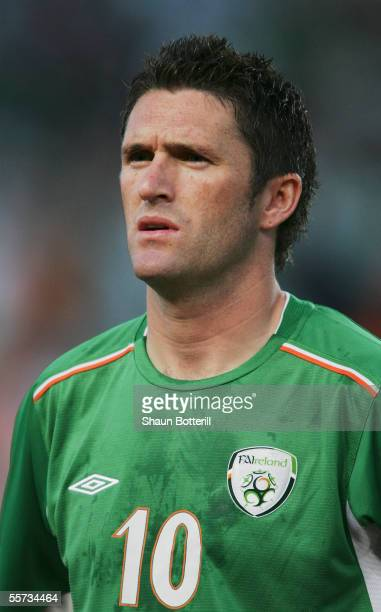 Portrait of Robbie Keane of Republic of Ireland prior to the World Cup Qualifying match between Republic of Ireland and France at Lansdowne Road on...