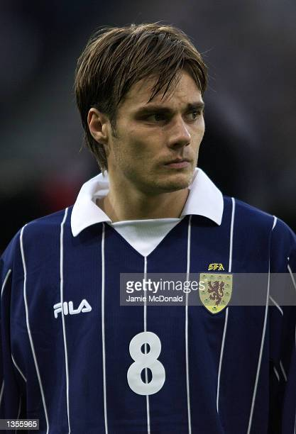 Portrait of Robbie Stockdale of Scotland before the International Friendly between Scotland and Denmark at Hampden Park in Glasgow Scotland on August...