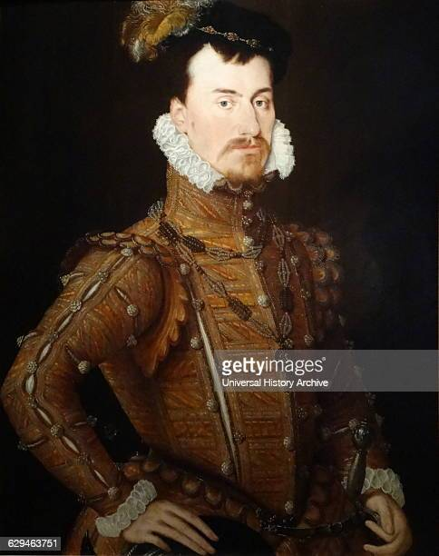 portrait of Robert Dudley 1st Earl of Leicester attributed to Steven van der Meulen Flemish artist Dated 16th Century