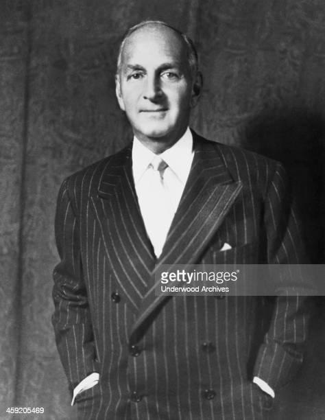 A portrait of Robert Lehman banker and head of Lehman Brothers New York New York circa 1946