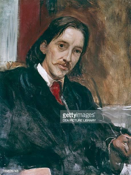 Portrait of Robert Louis Stevenson Scottish writer Oil on canvas by William Blake Richmond 73x56 cm London National Portrait Gallery