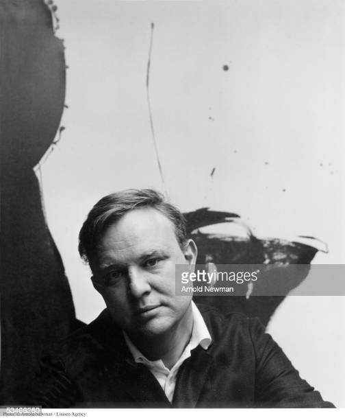 Portrait of Robert Motherwell American Abstract Expressionist painter March 27 1959 in New York City