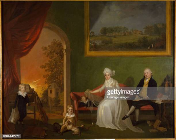 Portrait of Robert Mynors and His Family, 1797. Artist James Millar.