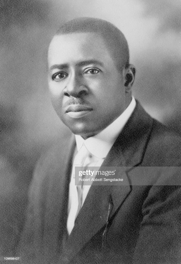 Portrait of Robert Sengstacke Abbott (1870 - 1940), publisher and founder of the Chicago Defender, which came to be known as 'America's Black Newspaper', early twentieth century.