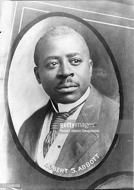 Portrait of Robert Sengstacke Abbott , publisher and founder of the Chicago Defender, which came to be known as 'America's Black Newspaper', early...