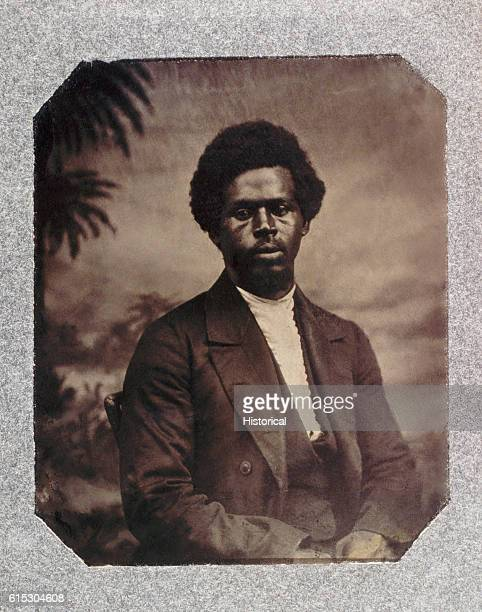 Portrait of Robert Smalls a pilot who on May 13 seized the CSS Planter from Charleston South Carolina and delivered her to the United States Navy