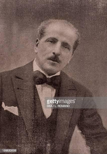 Portrait of Roberto Bracco Italian journalist writer and playwright Period photograph Naples Biblioteca Nazionale 'Vittorio Emanuele Iii' Biblioteca...