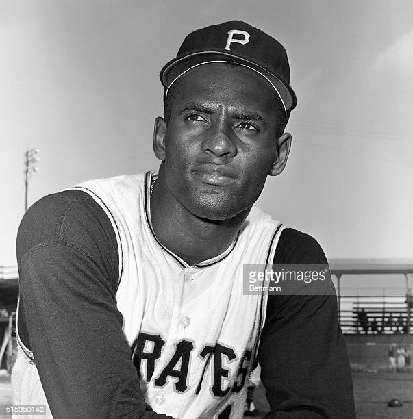 Portrait of Roberto Clemente outfielder of the Pittsburgh Pirates