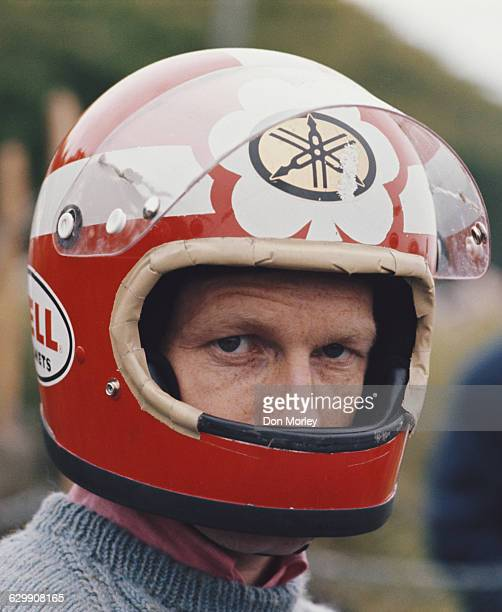 Portrait of Rodney Gould of Great Britain, rider of the Yamaha 350cc during passed Governors Bridge during the International Isle of Man Junior TT...