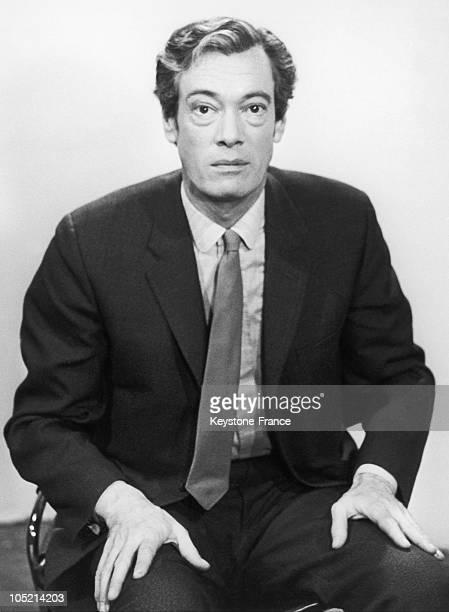 Portrait Of Roger Lanzac, The Presenter Of The Television Program La Piste Aux Etoiles And Tele-Dimanche, Around 1960-1969.