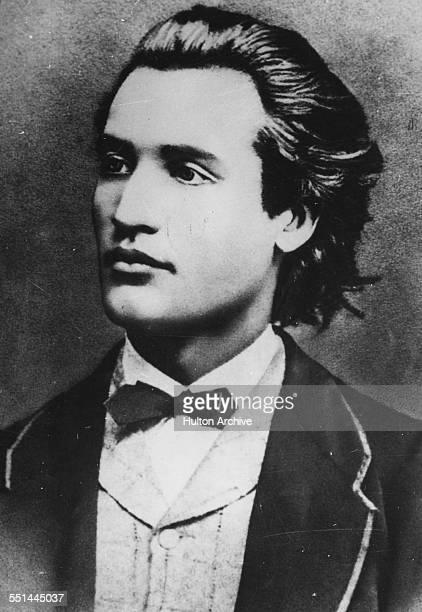 Portrait of Romanian poet Mihai Eminescu, circa 1880.