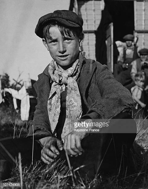 Portrait Of Romany Young Boy In England Europe
