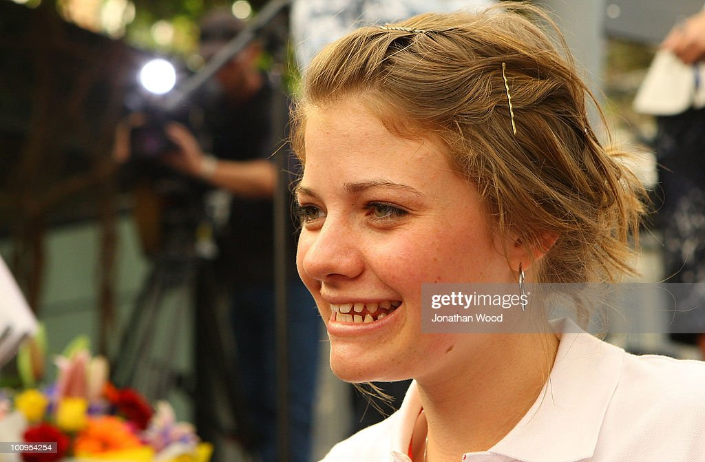 A portrait of round-the-world teen sailor Jessica Watson is taken while she signs autographs during a welcome home event at Queen Street Mall on May 26, 2010 in Brisbane, Australia. Watson, who turned 17 last week, returned to Australia to a hero's welcome on May 15 after sailing solo, non-stop and unassisted around the globe, completing the journey in 210 days.