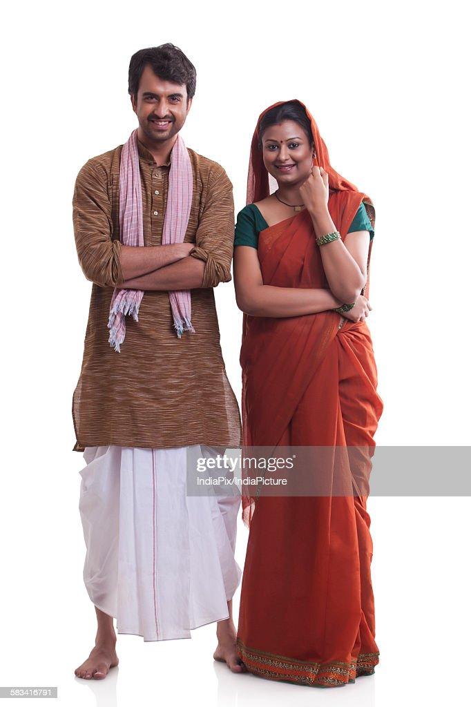 Portrait of rural couple : Stock Photo