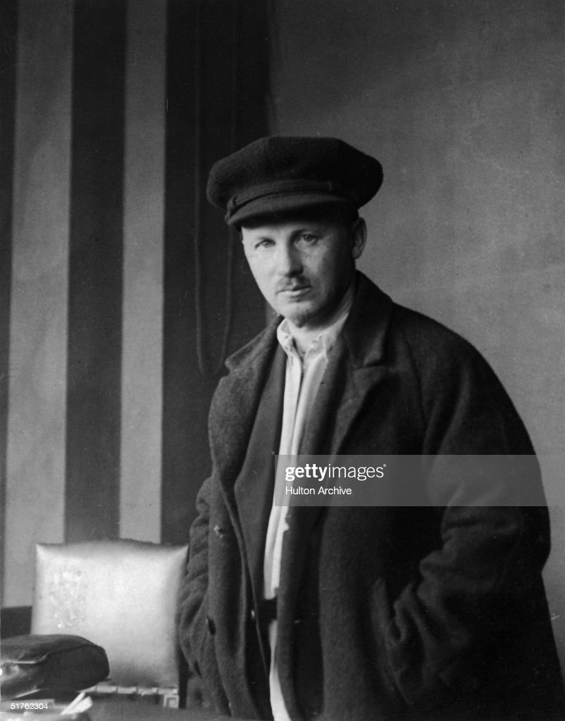 Portrait of Russian Communist leader and theoretician Nikolai Bukharin (1888 - 1938), editor of Pravda and a member of the Central Organization of the Communist Party of the Soviet Union, circa 1920.