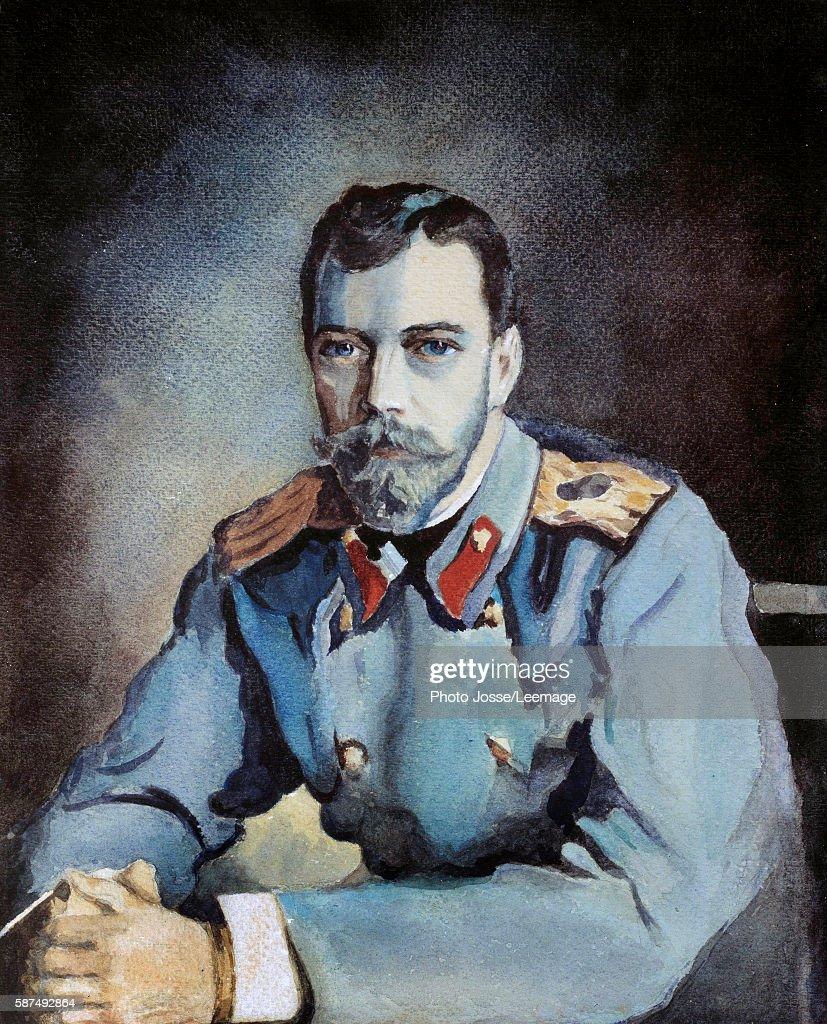 portrait of russian czar nicholas ii last czar of russia 1868 1918