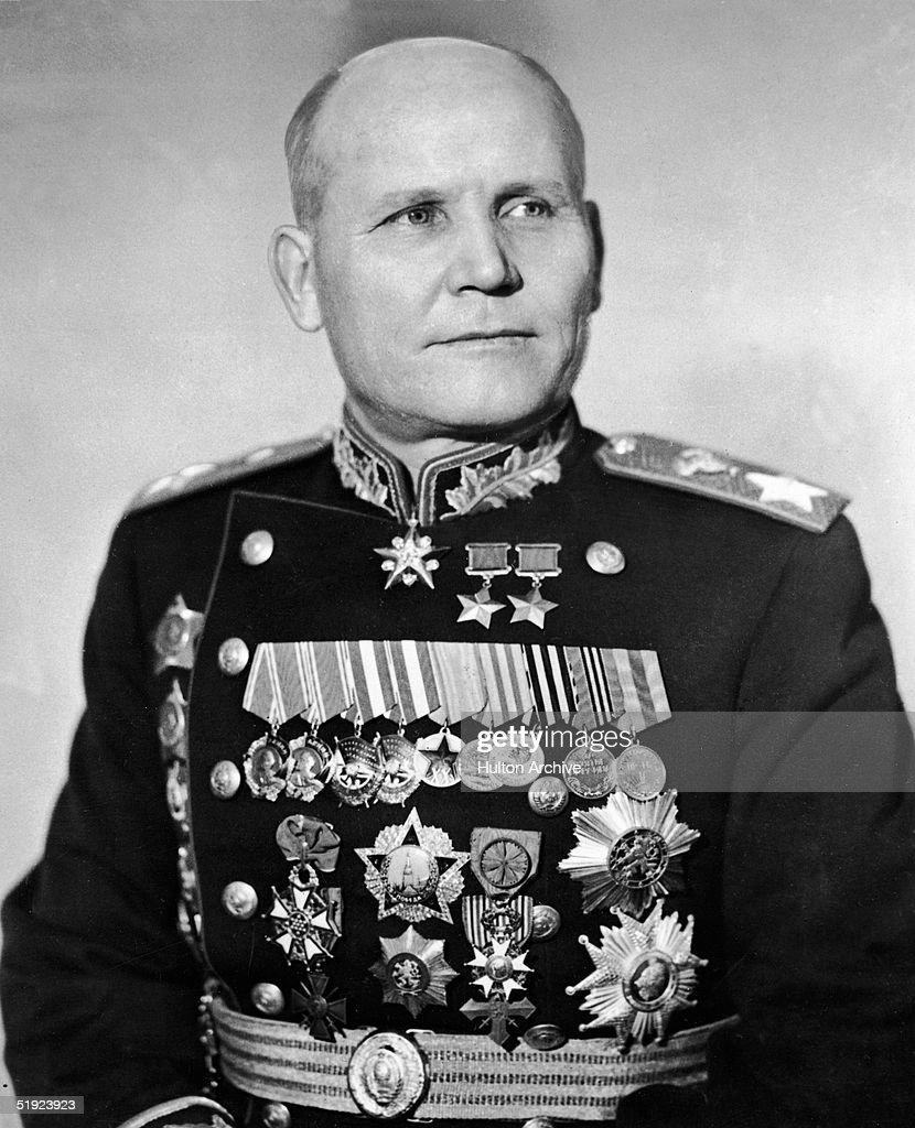 Marshal Ivan Koniev In Uniform : News Photo