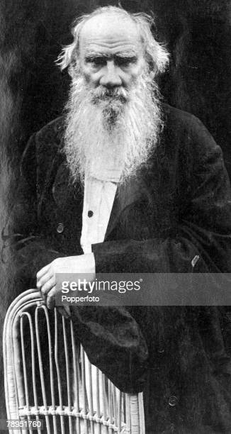 Portrait of Russian novelist Count Leo Tolstoy 1828 1910 writer of monumental books War And Peace and Anna Karenina