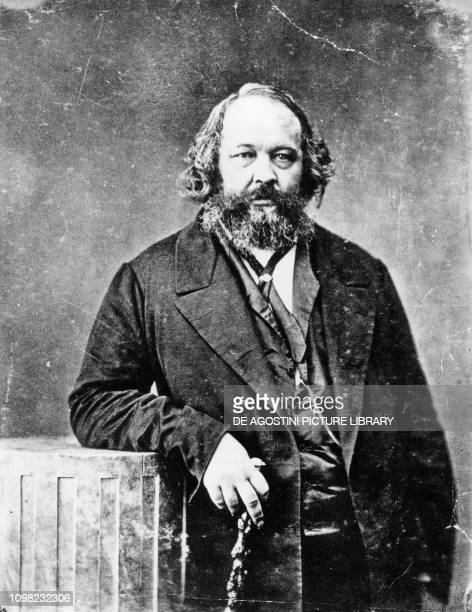 Portrait of Russian revolutionary Mikhail Alexandrovich Bakunin , photo by Nadar, pseudonym of Gaspard-Felix Tournachon.