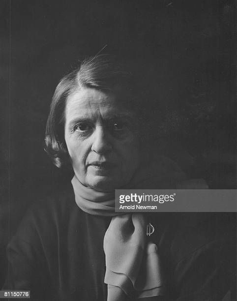 Portrait of Russianborn American author Ayn Rand New York New York September 15 1964 She wears a scarf around her neck and a brooch in the shape of a...