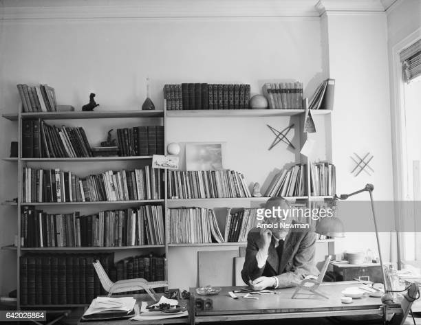 Portrait of Russianborn American photographer and Harper's Bazaar art director Alexey Brodovitch as he sits behind his desk New York New York June 10...