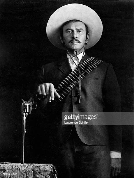 Portrait of Russianborn American Swiss actor Yul Brynner in costume during filming of the film 'Villa Rides' Andalusia Spain 1968