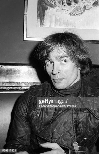 Portrait of Russian-born French dancer Rudolf Nureyev during a lunch at the Russian Tea Room, New York, New York, May 2, 1974. He was there to meet...