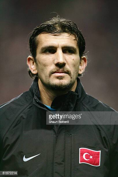 A portrait of Rustu Recber of Turkey prior to the 2006 World Cup Qualifier Group 2 match between Denmark and Turkey at the Parken Stadium on October...