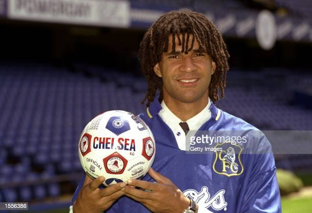 Portrait of Ruud Gullit of Chelsea at Stamford Bridge in London Mandatory Credit Allsport UK /Allsport