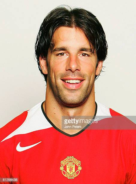 A portrait of Ruud van Nistelrooy at the annual club photocall at Old Trafford on August 22 2004 in Manchester England