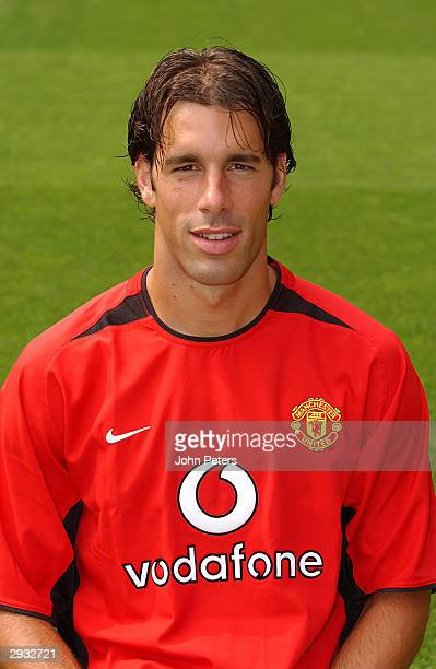Portrait of Ruud van Nistelrooy during the Manchester United official photo-call at Old Trafford on August 11, 2003 in Manchester, England.