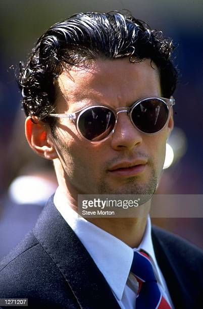 Portrait of Ryan Giggs of Manchester United before the Charity Shield match against Arsenal at Wembley Stadium in London Manchester United won the...