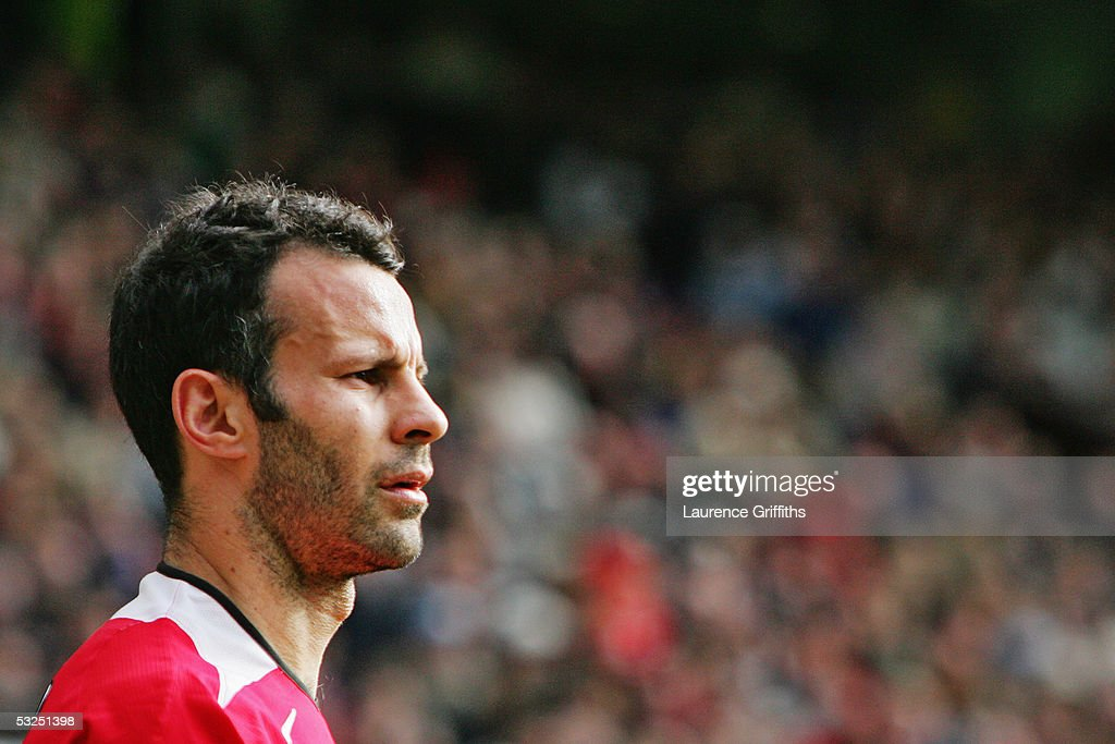 A portrait of Ryan Giggs of Manchester United during the FA Barclays Premiership match between Manchester United and West Bromwich Albion at Old Trafford on May 7, 2005 in Manchester, England.