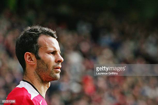 A portrait of Ryan Giggs of Manchester United during the FA Barclays Premiership match between Manchester United and West Bromwich Albion at Old...