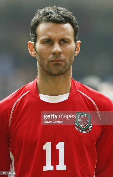 Portrait of Ryan Giggs of Wales taken before the European Championships 2004 Group 9 Qualifying match between Wales and Azerbaijan held on March 29...