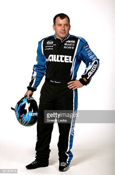 Portrait of Ryan Newman driver of the Alltel Dodge Charger during the Media Day at the NASCAR Nextel Cup Daytona 500 on February 10 2005 at the...