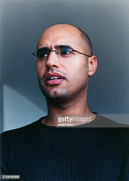 Portrait of Saif alIslam Gaddafi He is the second son of late Libyan leader Muammar Gaddafi and his second wife Safia Farkash Photographed at his...