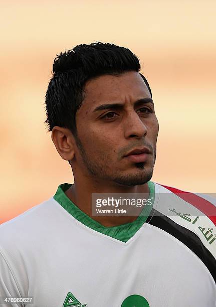 A portrait of Saif Salman Hashim AlMohammadawi during the Asian Cup Qualification match between China and Iraq at the AlSharjah Stadium on March 5...