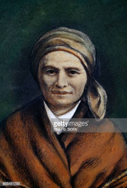 Portrait of Saint Bernadette Soubirous painting France