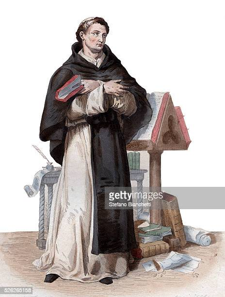 Portrait of Saint Bernard de Clairvaux French abbot and builder of the reforming Cistercian order Illustration from 'Le Plutarque Francais' by Edmond...
