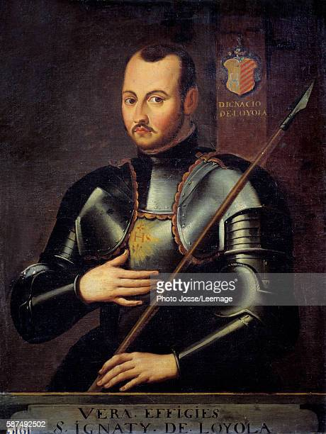 Portrait of Saint Ignatius of Loyola founder of the Society of Jesus Anonymous painting of the French School 17th century Oil on canvas 094 x 072 m...