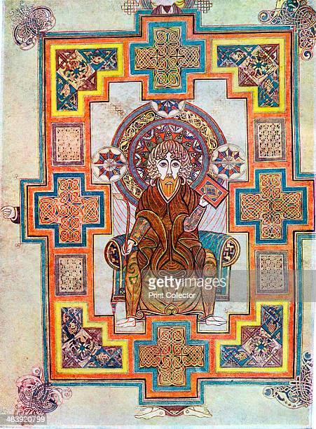Portrait of Saint John from the Book of Kells, c800. The Book of Kells is a manuscript of the Four Gospels originally thought to have been produced...