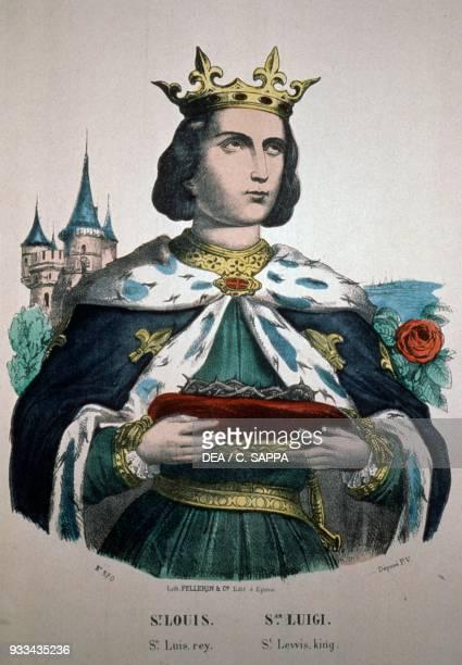 Portrait of Saint Louis Epinal print