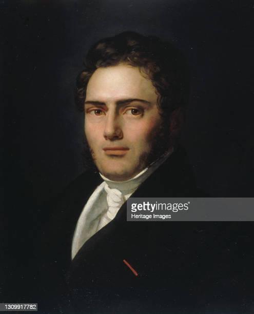 Portrait of Saint-Amand Bazard , 1821. Found in the collection of Musée de la Vie romantique, Paris. Artist Scheffer, Henry . .