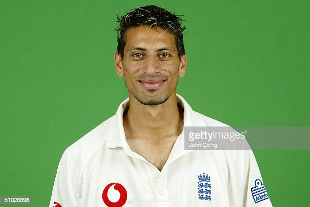 Portrait of Sajid Mahmood of England taken during a photocall at Sophia Gardens on June 21, 2004 in Cardiff, Wales.