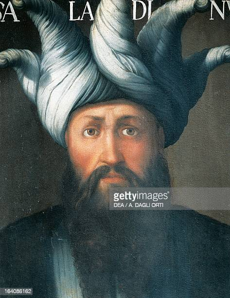 Portrait of Saladin, Salah al-Din Yusuf , Sultan of Egypt and Syria and Hijaz, painting by an unknown atist, 18th century.