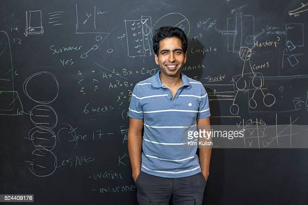 Portrait of Salman Khan the founder of the Khan Academy A notforprofit with the goal of changing education for the better by providing a free...