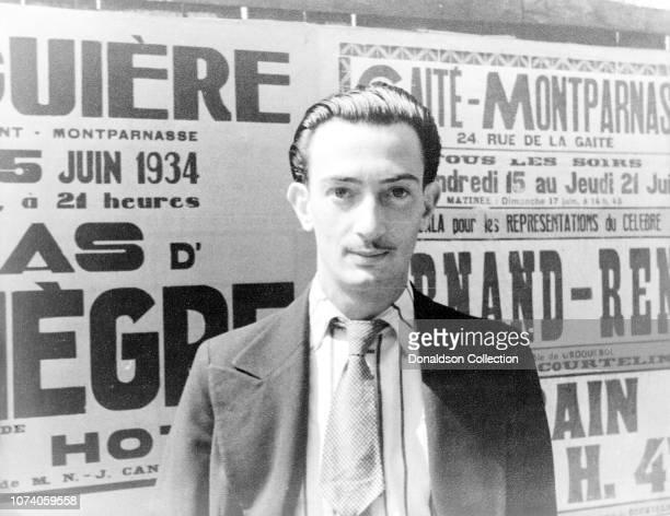 Portrait of Salvador Dali in Paris