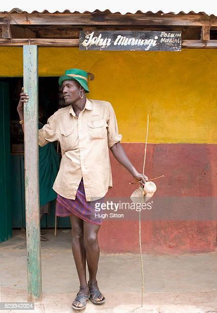 portrait of samburu man - hugh sitton stock pictures, royalty-free photos & images