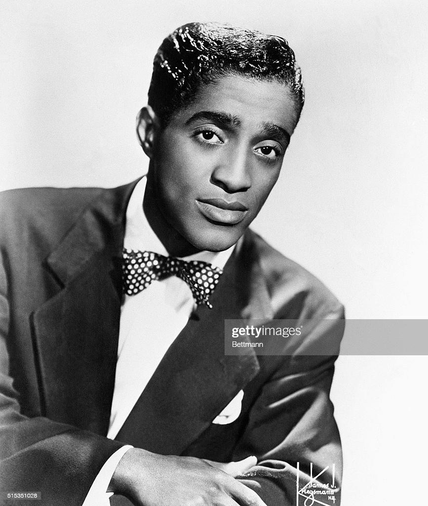 Portrait of Sammy Davis, Jr., 1925-1990, singer, dancer and actor. 12/22/53 b/w photo.